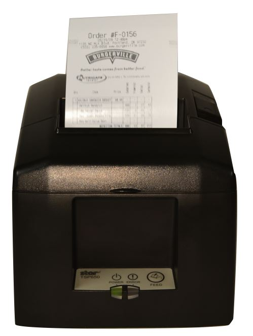 Image of Order Confirmation Label Being Printed using POS Printer